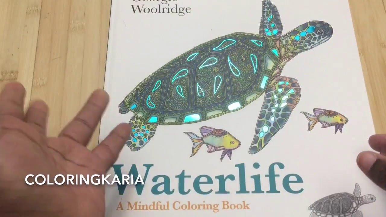 Waterlife By Georgie Woolridge Adult Coloring Book Review