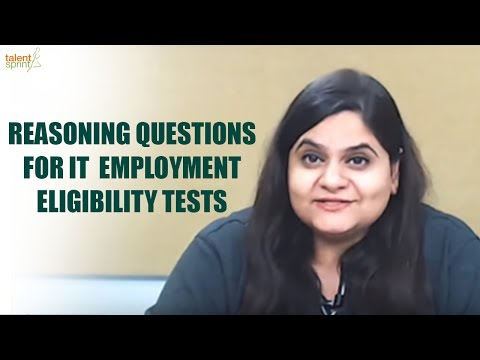 Reasoning Questions for IT Employment Eligibility Tests | Aptitude test for Interview | TalentSprint