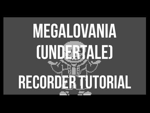 How to play Megalovania by Toby Fox on Recorder (Tutorial)