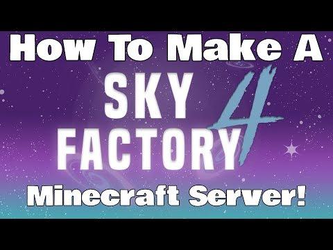 How To Make A SkyFactory 4 Minecraft Server (Minecraft Server Tutorial)