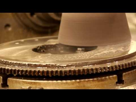 Willys Jeep Flywheel Grinding on Cincinnati Milling Machine