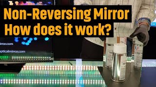 "Non-Reversing Mirror ""True Mirror"" (2018) Using Front Surface Mirrors"