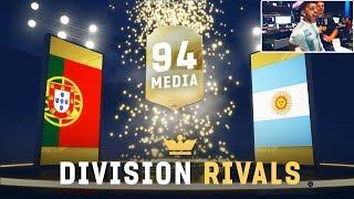 JUEGO DIVISION RIVALS Y ME SALE UN MEDIA 94 !!! FIFA 19