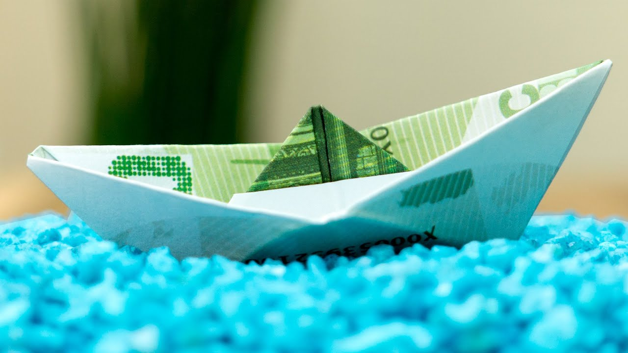 Geldschein Falten Schiff Geldscheine Zu Einem Boot Falten Anleitung