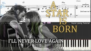 Lady Gaga - I'll Never Love Again (Extended Version) - Tutorial & Sheets Mp3