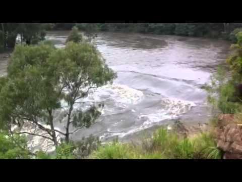 Yarra River in flood