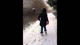 Day full of snow in German ( Wolfsburg )