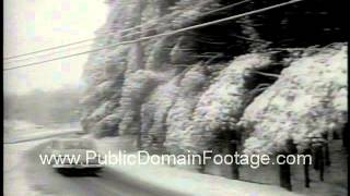 Winter has U.S. in icy grip 1964 newsreel and archival footage