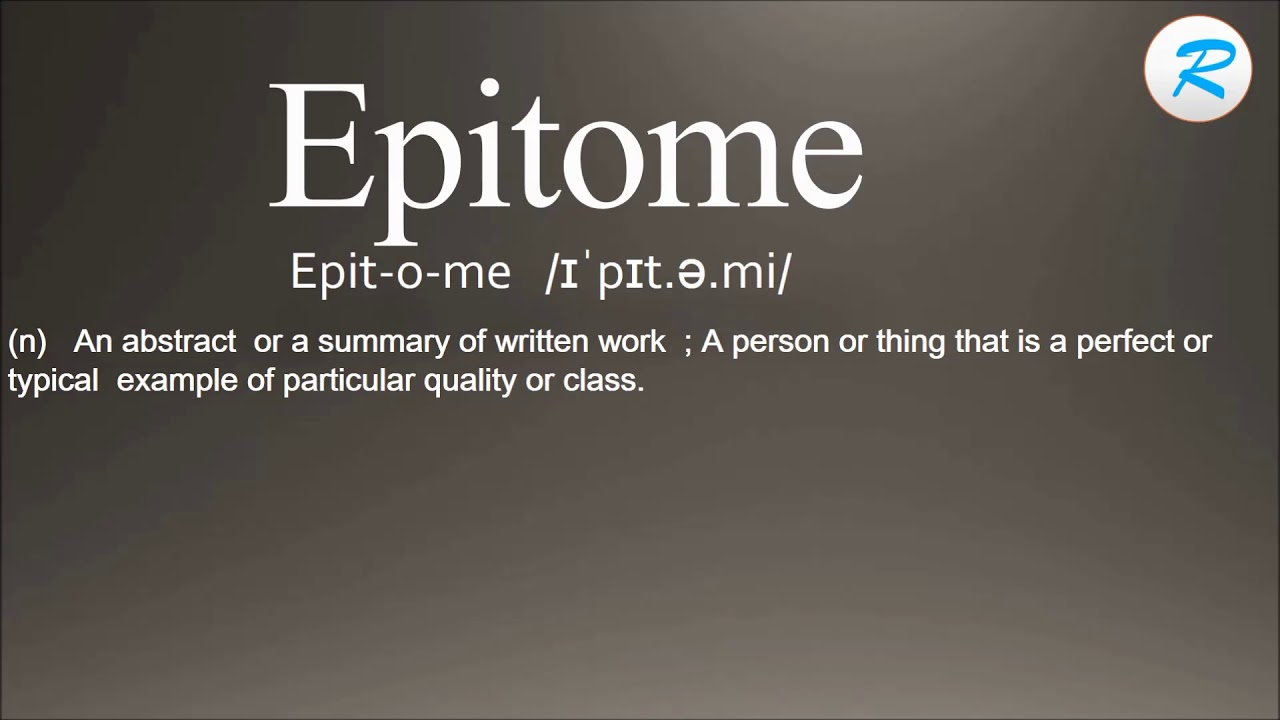 how to pronounce epitome youtube how to pronounce epitome