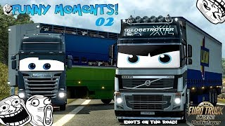 [DZ] Euro Truck Simulator 2 Multiplayer | Funny Moments & Crash Compilation | #02