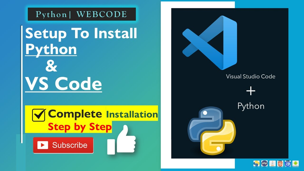 Complete VS code Installation Step by Step | Integrate Python with VS code