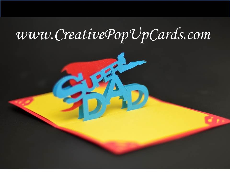 Father S Day Super Dad Pop Up Card Youtube