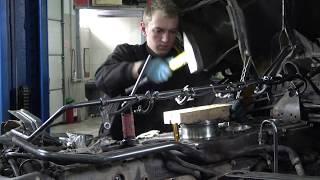 Ремонт двигателя Scania 124 L  монтаж гильз часть 2