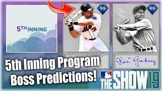 5th Inning Program Boss Player Signature Series Predictions! MLB The Show 19 Diamond Dynasty