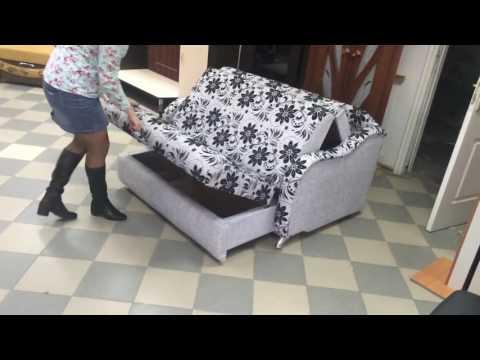 Как раскладывается диван аккордеон видео