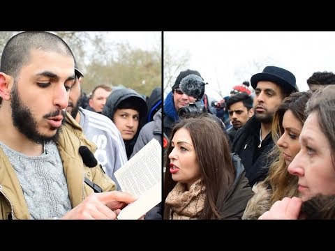 """LADY """"INFIDEL"""" GETS THE ANSWER - HAPPY ENDING - speakers corner"""