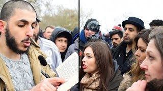 "LADY ""INFIDEL"" GETS THE ANSWER - HAPPY ENDING - speakers corner"