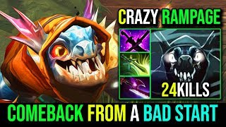 Epic RAMPAGE [Slark] How to ComeBack From A Bad Start 24KIlls 800GPM By BSJ | Dota 2 FullGame