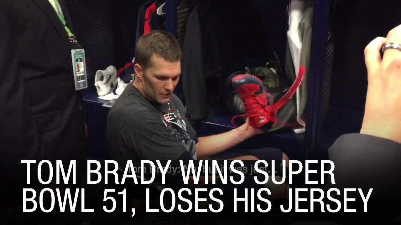 EXCLUSIVE: Tom Brady Wins Super Bowl 51, Loses His Jersey
