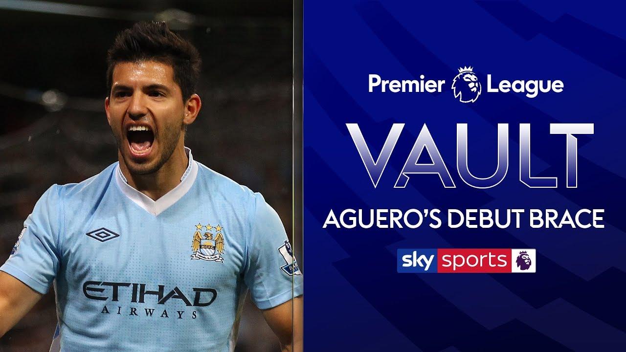 Aguero scores twices on Man City debut! | Man City 4-0 Swansea | 15th August 2011 | PL Vault