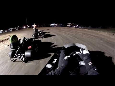 Rice Lake Speedway Kart Track, 10-19-19. Feature Race, Pumpkin 100.