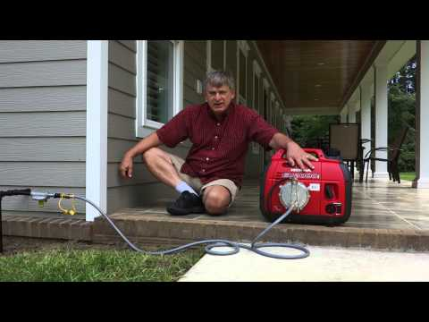 Using A Honda 2000 Tri-Fuel Generator on Natural Gas