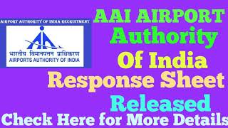 AAI Response Sheet Released AAI Answer Keys Released   Check Now...