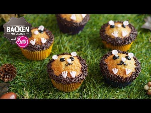 Muffins im Igellook - Backen mit Kindern   Backen mit Globus & Sallys Welt #68