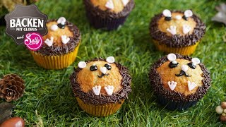Muffins im Igellook - Backen mit Kindern | Backen mit Globus & Sallys Welt #68