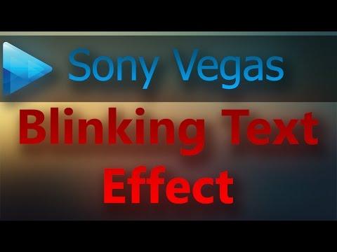 Sony Vegas Blinking Text Effect