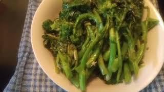 Garlic Sauteed Broccoli Rabe/ Rapini