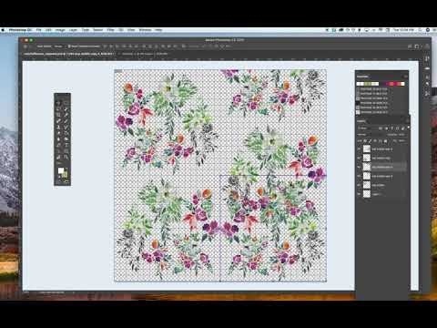 How to create a seamless half drop repeat in photoshop