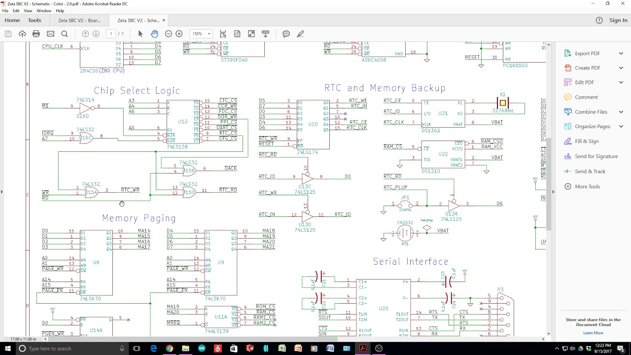 125 Zeta SBC Z80 CP/M computer schematic - YouTube