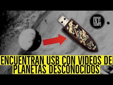 ENCUENTRAN UNA USB CON VIDEOS DE PLANETAS DESCONOCIDOS