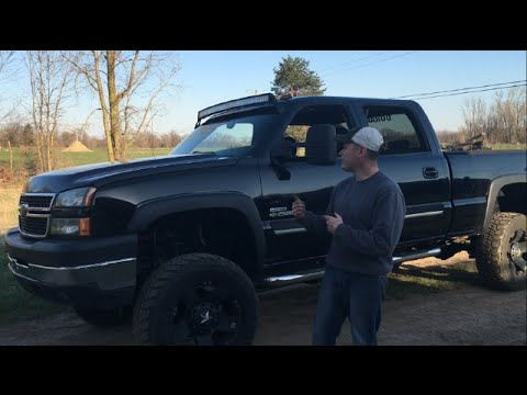 How To Install Light Bar On Silverado Duramax Youtube