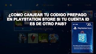 PS4: ¿Còmo canjear tu còdigo pre pago en playstation store si tu cuenta id es de otro paìs?