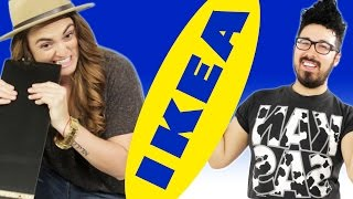 Gays vs. Lesbian Compete In Building Ikea Furniture
