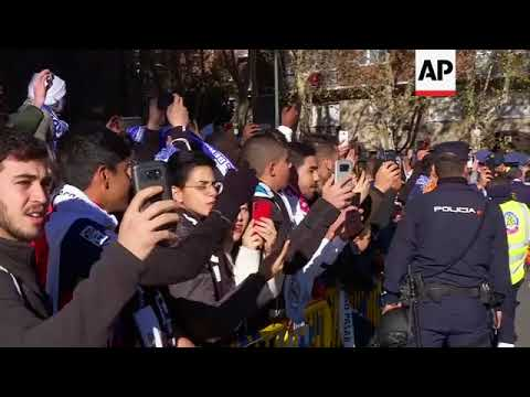 Barcelona arrive for Real Madrid football match
