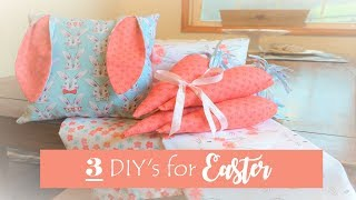 3 DIY Sewing Crafts for Easter / Easter Carrots / Easter Tea Towels / Easter Bunny Pillow