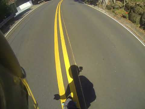 Racing the bus down pacific heights