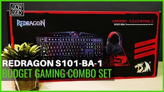 Cheapest Gaming Combo Set!! Redragon Gaming Essentials S101-BA-1 (4-in1) 2019