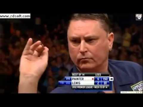 Kevin Painter BRILLIANT 150 checkout vs Adrian Lewis Week 13 Premier League Darts 2012   YouTube