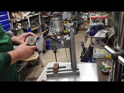 Самодельный настольный сверлильно-фрезерный станок по металлу