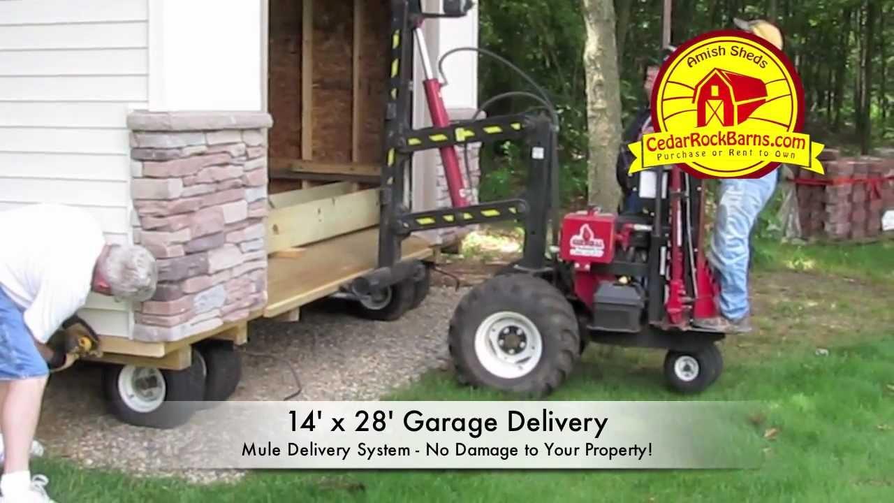 14u0027 X 28u0027 Garage Delivery   Portable Storage Building P.2   YouTube