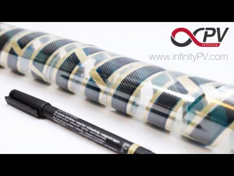 DIY contacting of organic solar cells - solar tape (infinityPV)
