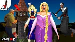 THE STORY OF GRANNY RAPUNZEL ICE SCREAM BALDI  Funny Animation by Abegi JO  Part 31
