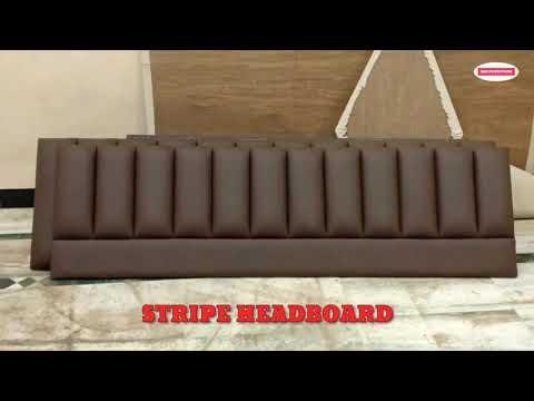 stripe headboard making