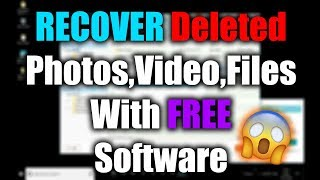 How to RECOVER Deleted Photos,video,file With Free Software