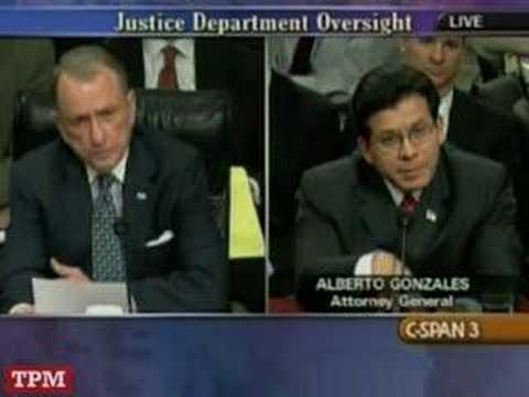 Alberto Gonzales Death Penalty Case Questioning