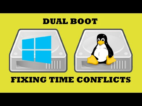 Dual Boot Windows & Linux - Fixing Time Conflicts (2016)